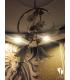 لوستر آویز صدف شکوفه شیشه ای