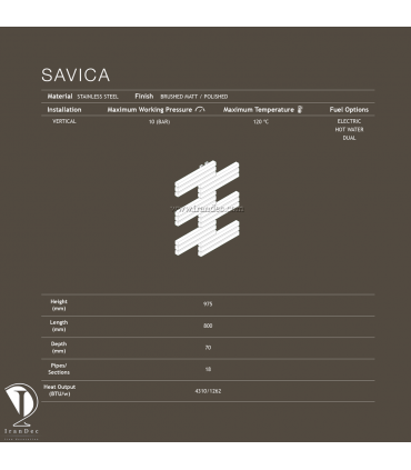 حوله خشک کن فولادی مدل SAVICA