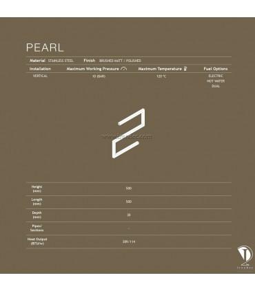مشخصات فنی حوله خشک کن کوچک مدل PEARL