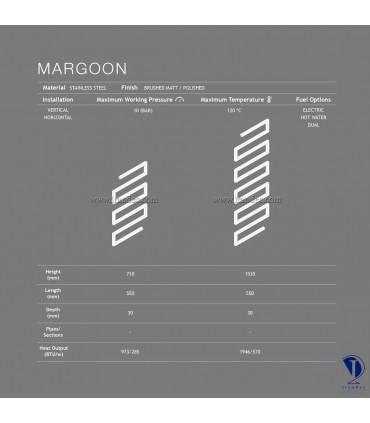 مشخصات فنی حوله خشک کن خاص مدل MARGOON
