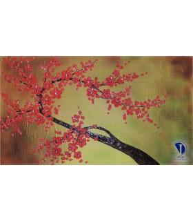 تابلو گل برجسته شکوفه صورتی