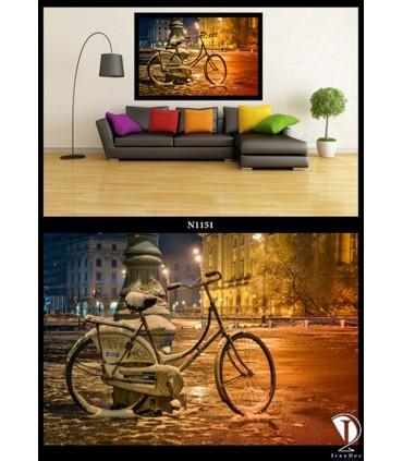 تابلو بک لایت طرح دوچرخه N1149