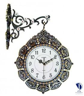 ساعت دیواری چوبی دو طرفه والتر کد AT9019