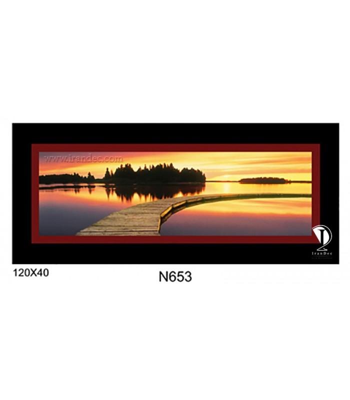 تابلو طرح غروب آفتاب کد N653