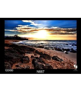 تابلو طرح غروب آفتاب کد N667
