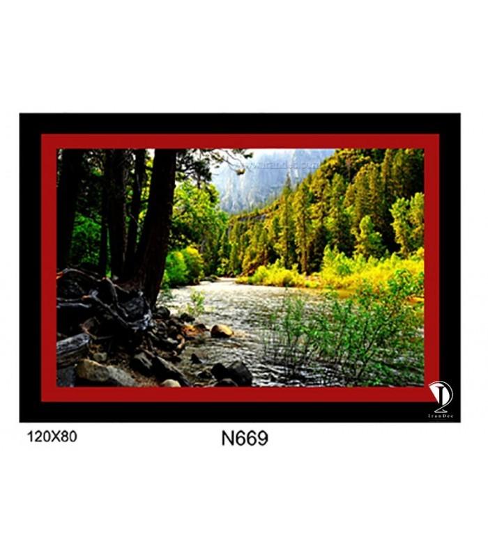 تابلو طرح جنگل و رودخانه کد N669