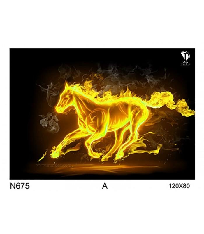 تابلو طرح اسب کد N675-A