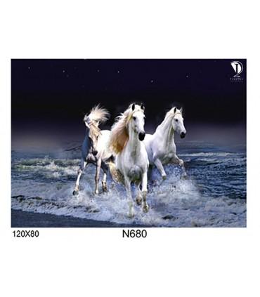 تابلو طرح اسب کد N680