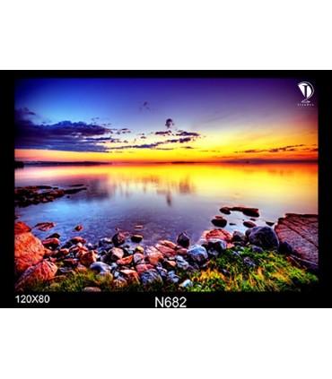 تابلو طرح غروب آفتاب کد N682