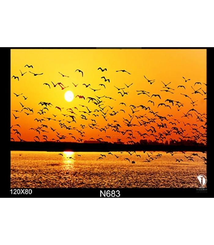 تابلو طرح غروب آفتاب کد N683