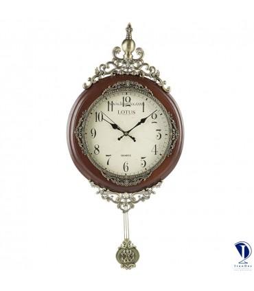 ساعت دیواری چوبی لوتوس کد L1803