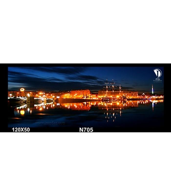 تابلو طرح شهر در شب کد N705