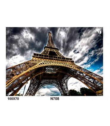تابلو طرح برج ایفل کد N708
