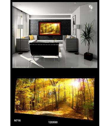 تابلو طرح جنگل پائیزی کد N716