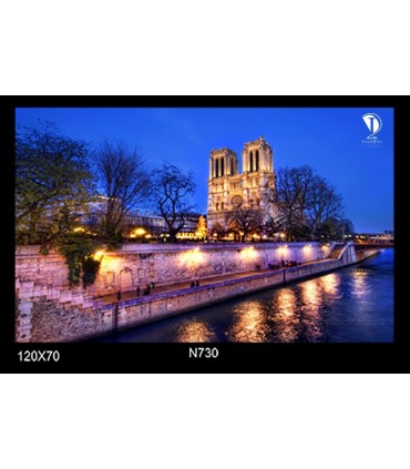 تابلو طرح کلیسای نوتردام پاریس کد N730
