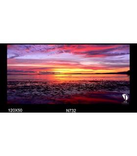 تابلو طرح غروب آفتاب کد N732