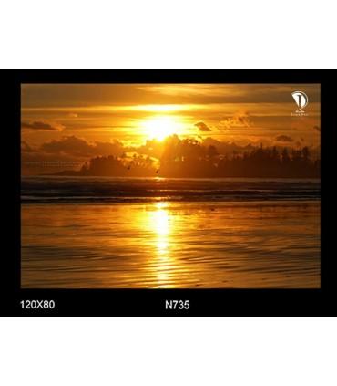 تابلو طرح غروب آفتاب کد N735