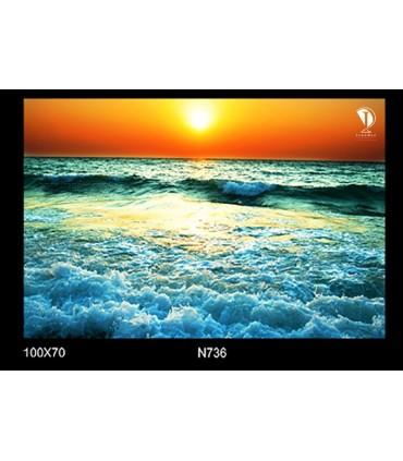 تابلو طرح غروب آفتاب کد N736
