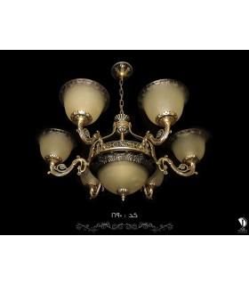 لوستر آنتیک کد 1690 طرح برنز