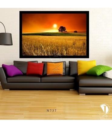 تابلو طرح غروب آفتاب کد N737-تصویر2