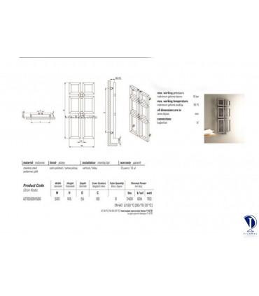 مشخصات فنی رادیاتور استیل مدل ROYAL
