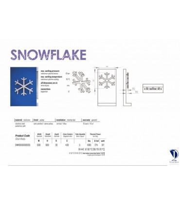 حوله خشک کن استیل مدرن مدل SNOWFLAKE