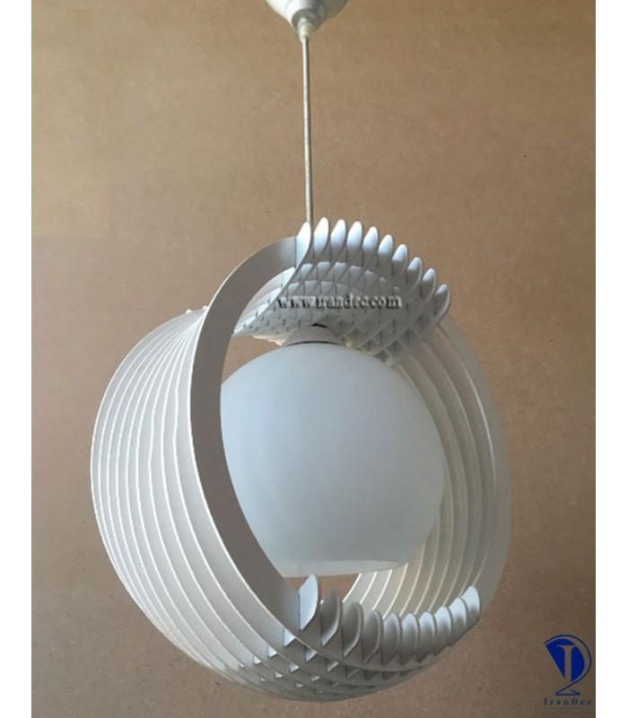 لوستر چوبی تک لامپ کد K102W