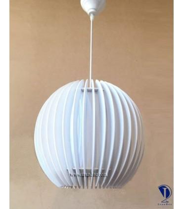 لوستر چوبی تک لامپ سفید کد P111W