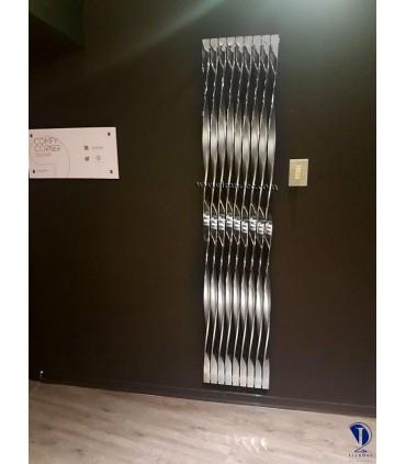 رادیاتور دکوراتیو استیل مدل آلامر پیچی 150سانتی متری