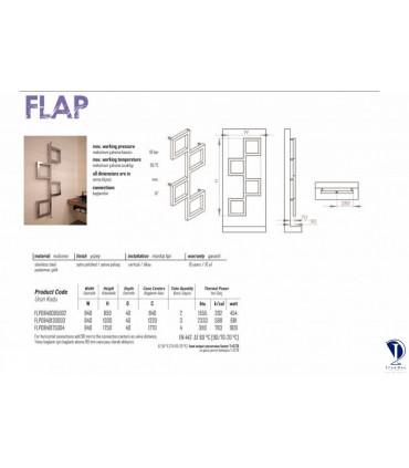 مشخصات فنی رادیاتور استیل مدل FLAP