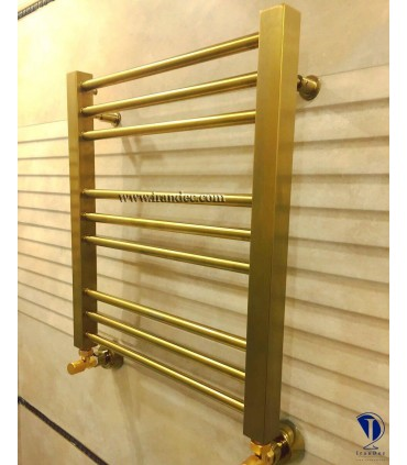 رنگ طلایی ( سفارشی ) -حوله خشک کن استیل مدل SANGAN