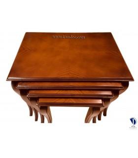 میز عسلی چوبی چهار تیکه بلوط