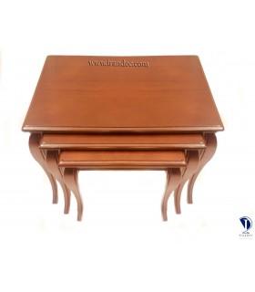 میز عسلی چوبی سه تیکه بلوط