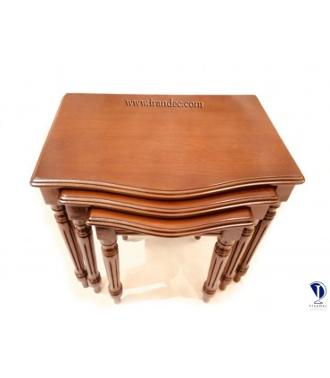 میز عسلی چوبی سه تیکه ارکیده