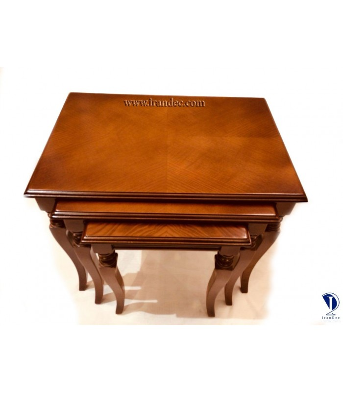 میز عسلی چوبی سه تیکه عرشیا