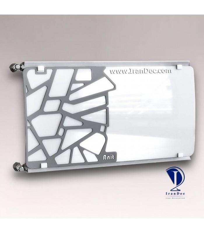 رادیاتور سوپر لوکس شیشه ای سیاه و سفید