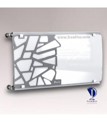 رادیاتور سوپر لوکس شیشه ای سیاه و سفید طرح جانبی