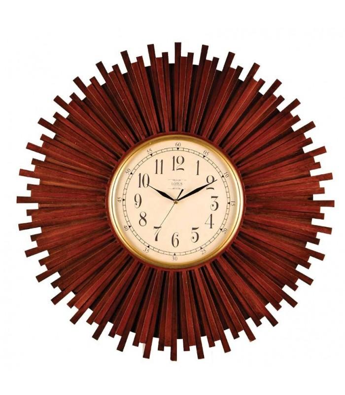 ساعت دیواری چوبی لوتوس کد BR6900