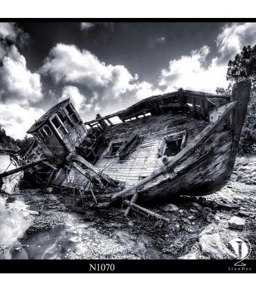 تابلو طرح قایق شکسته کد N1070