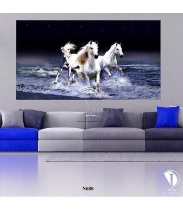 تابلو طرح اسب تصویر 2 کد N680