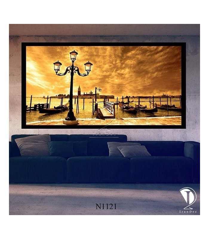 تابلو طرح غروب آفتاب کد N1121