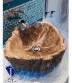 سینک چوبی مدل تنه درخت