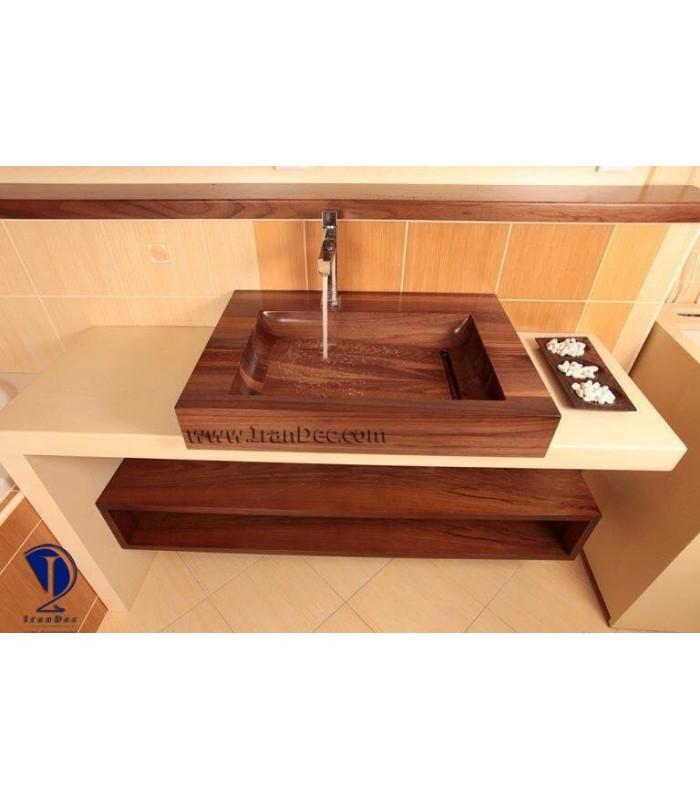 سینک چوبی مدل کبریتی