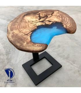 میز چوب و لاک آلمانی مدل روستیک تلفیق