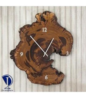 ساعت چوبی مدل کنده