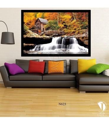 تابلو طرح رودخانه و آسیاب آبی کد N623