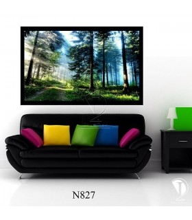 تابلو طرح جنگل و نور کد N827