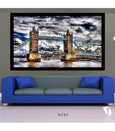 تابلو طرح تاور بریج لندن کد N685 - تصویر2