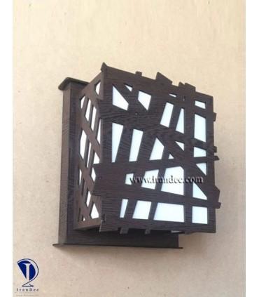 دیوارکوب چوبی کد C106B