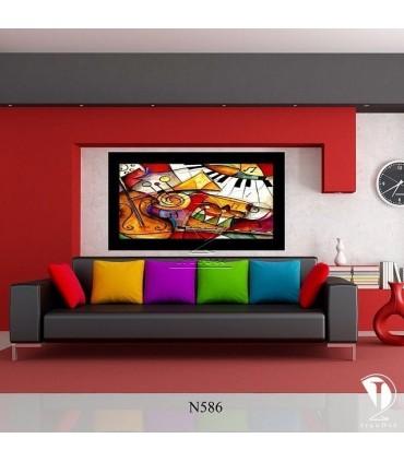 تابلو هنر انتزاعی : کد N586